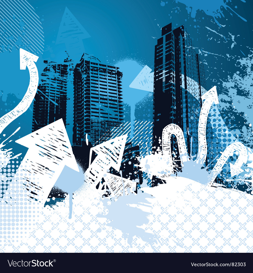 Grunge city design vector