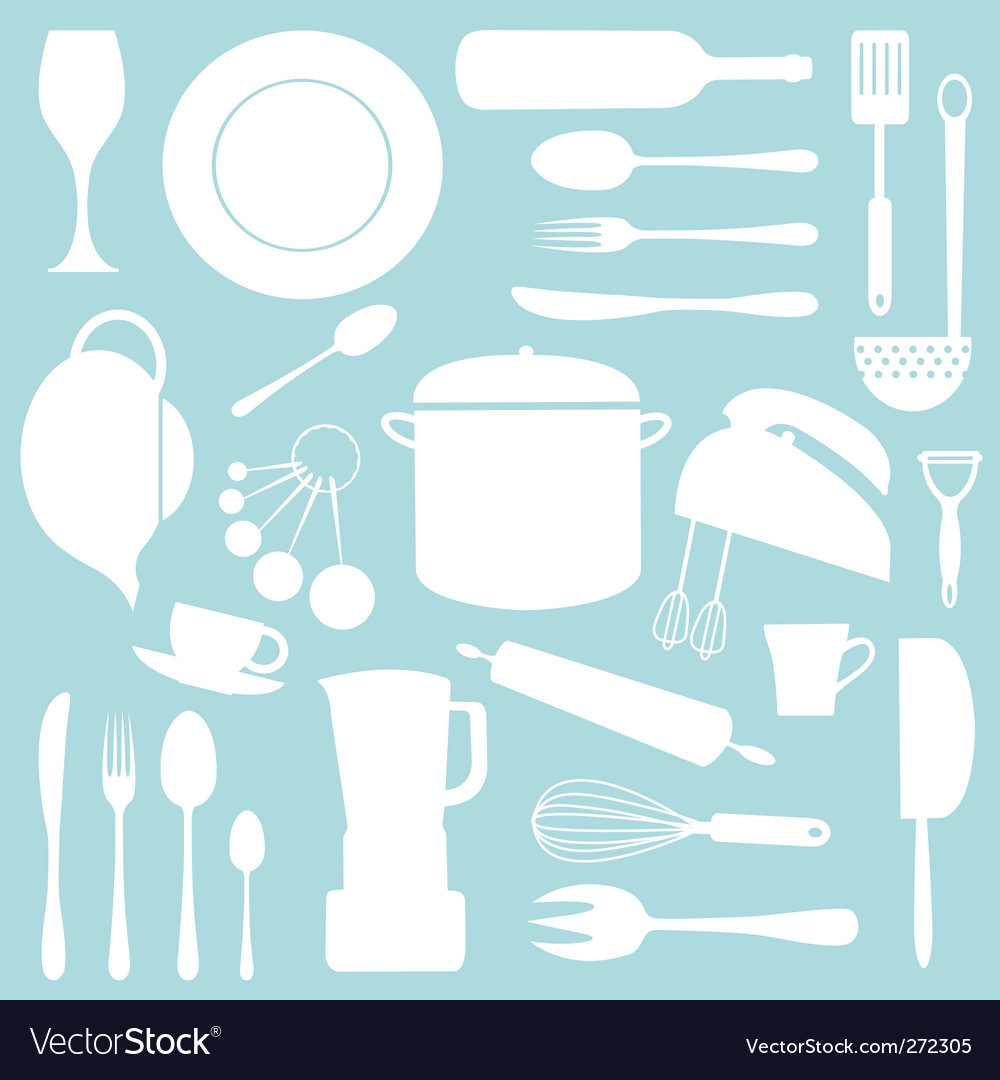 Kitchen pattern vector art - Download Kitchen vectors - 272305
