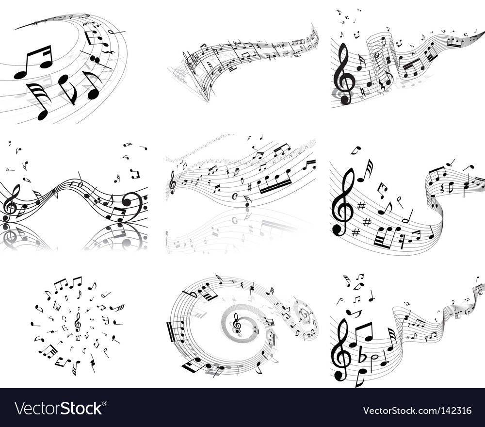 Notes staff vector