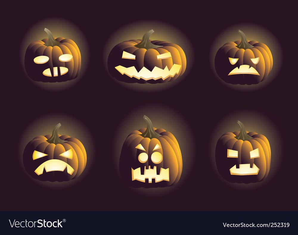 Evil pumpkins vector