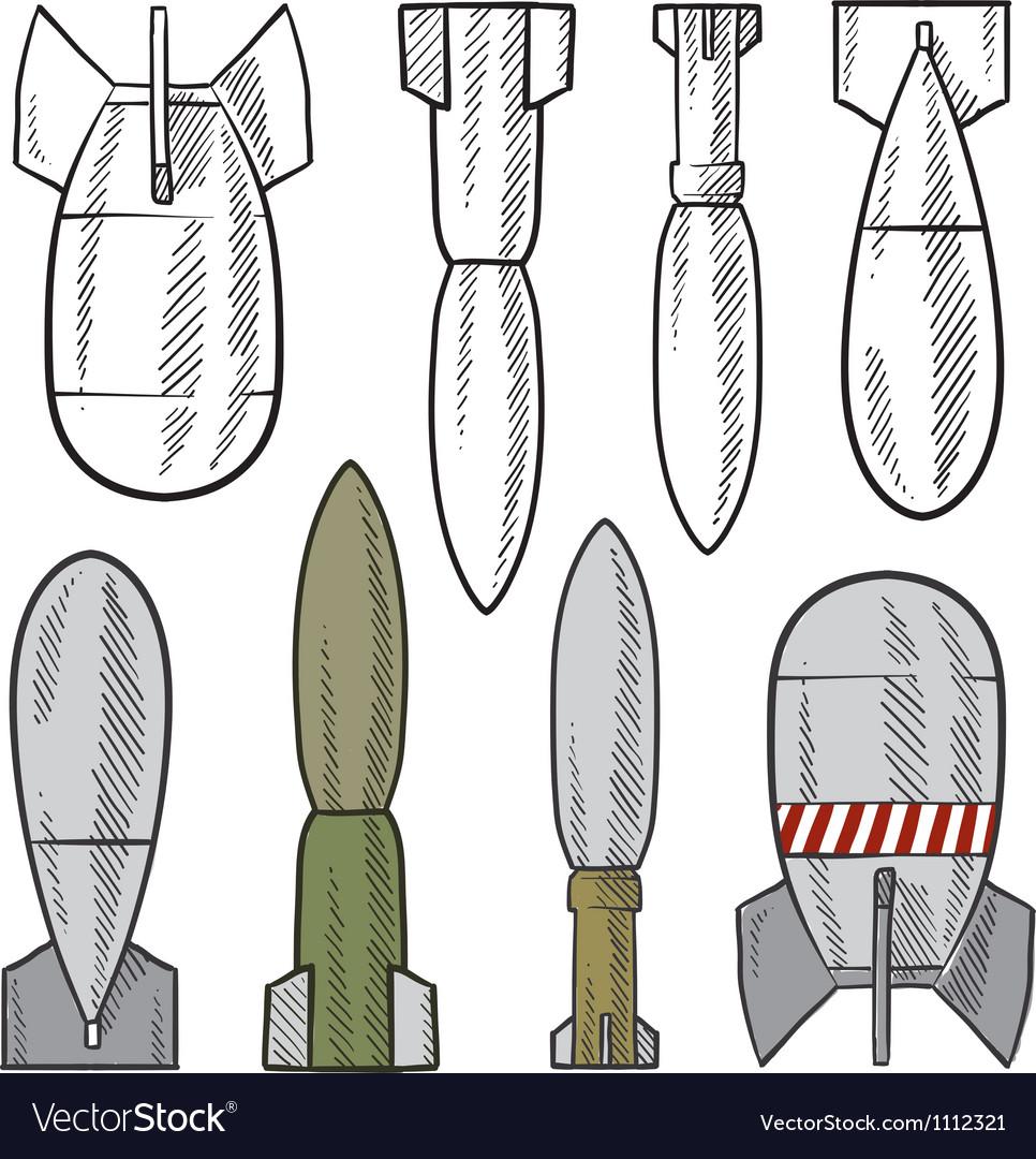 Doodle bombs vector