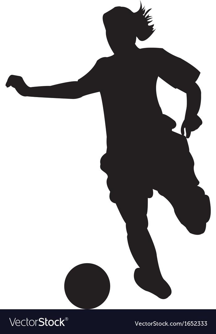 Girl Soccer Silhouette Vector Girl soccer player vector