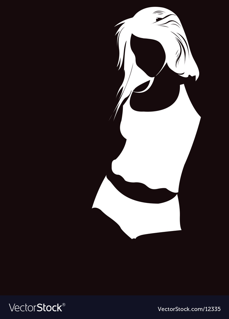 Girl illustration vector