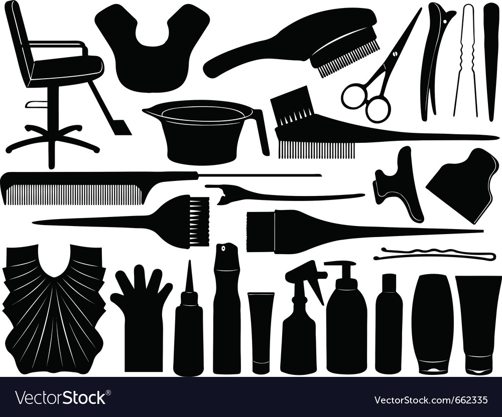 Hair dressing design elements vector