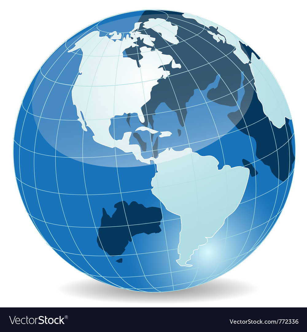 Abstract blue globe vector