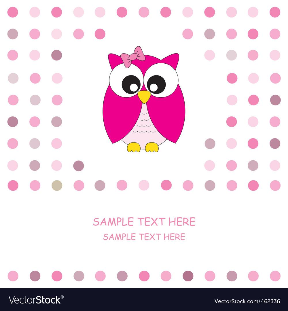 Owl pink vector
