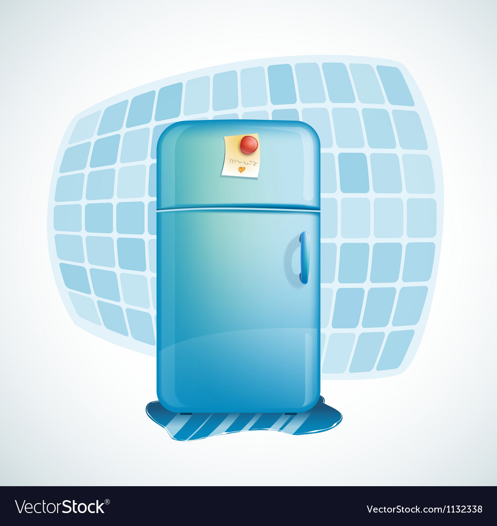 Cartoon - refrigerator vector
