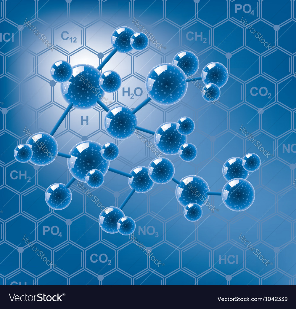 Abstract molecule vector