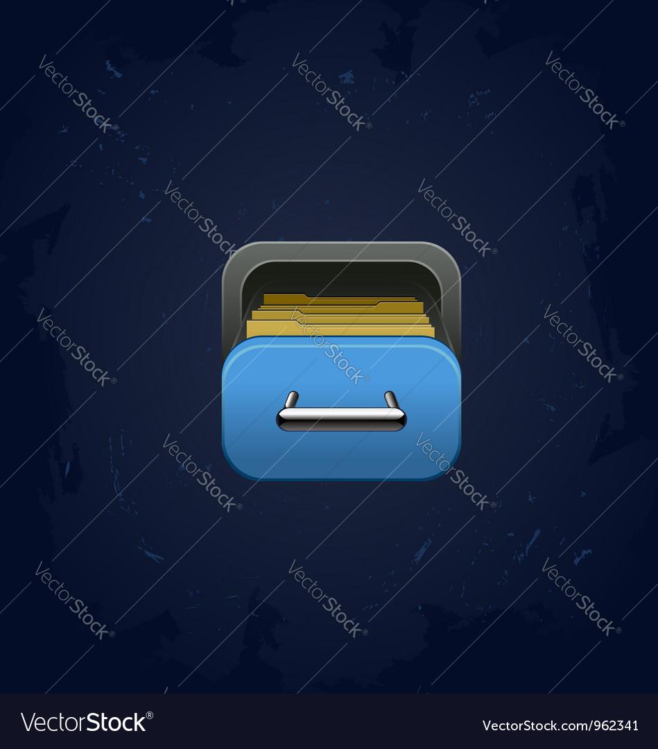 Archive square icon vector