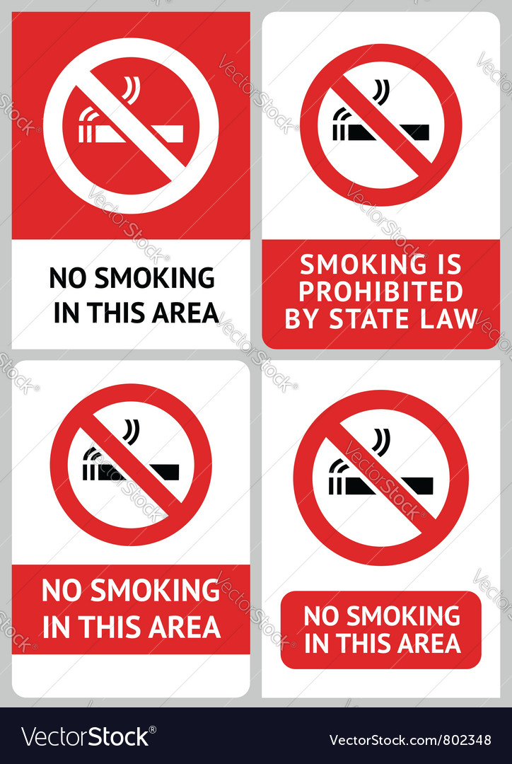 Label set no smoking vector