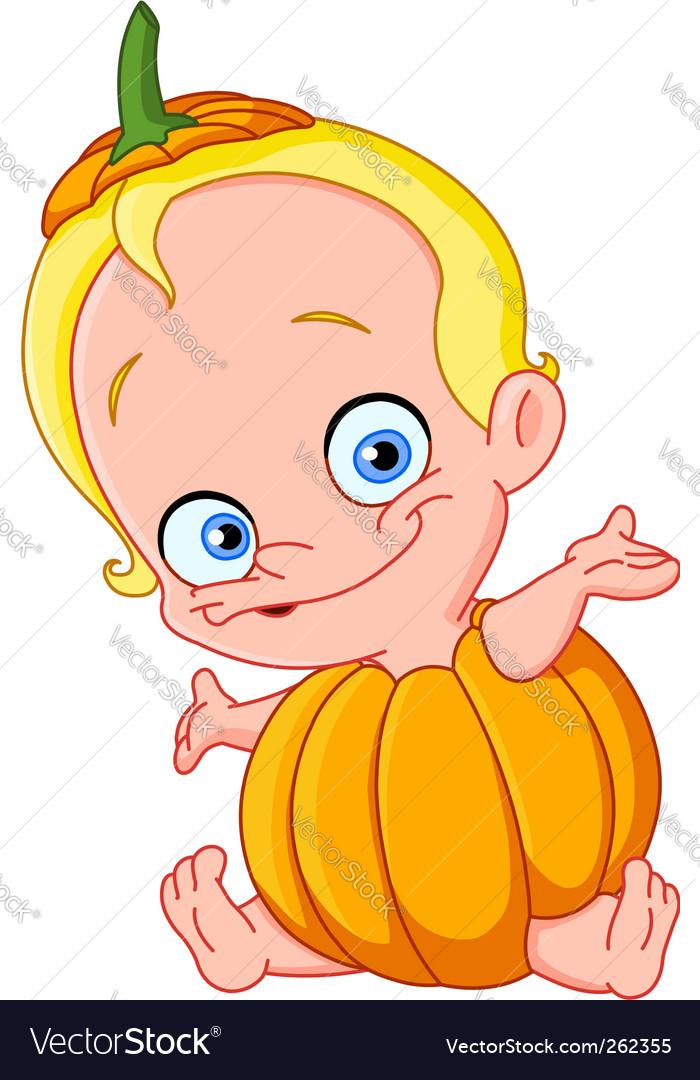 Baby pumpkin vector