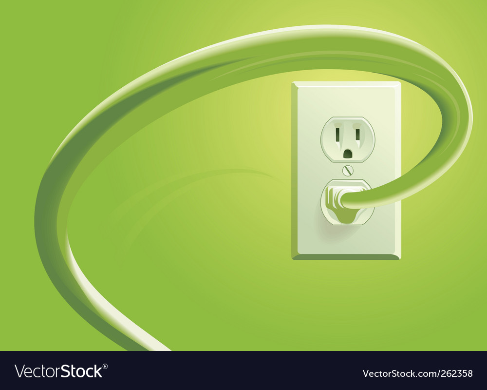 Power socket and plug vector