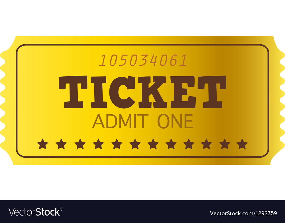 Retro golden coupon isolated on white vector