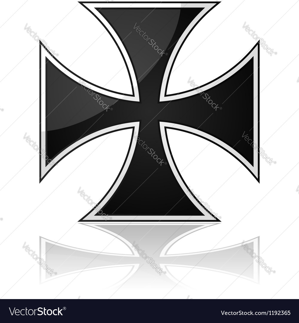 Iron cross vector