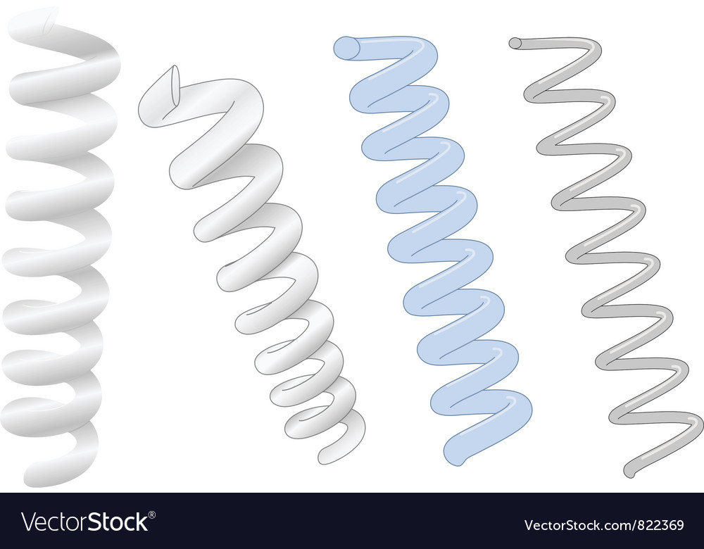 Industrial springs coil vector
