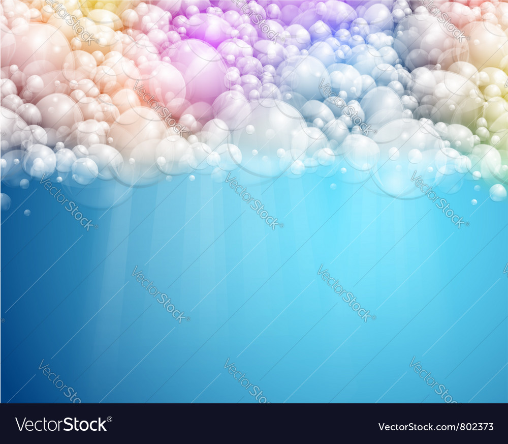 Abstract bubbles background vector