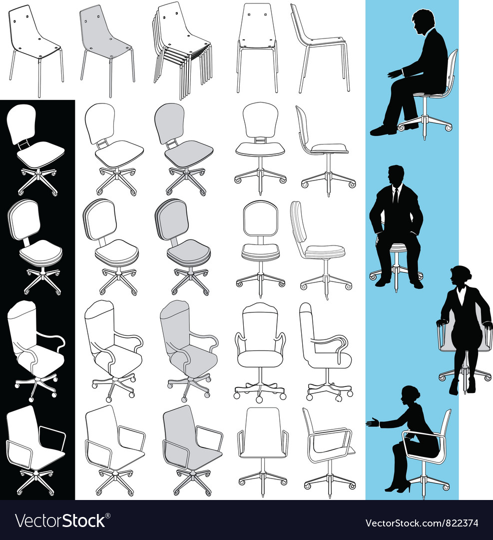 Office business chairs vector