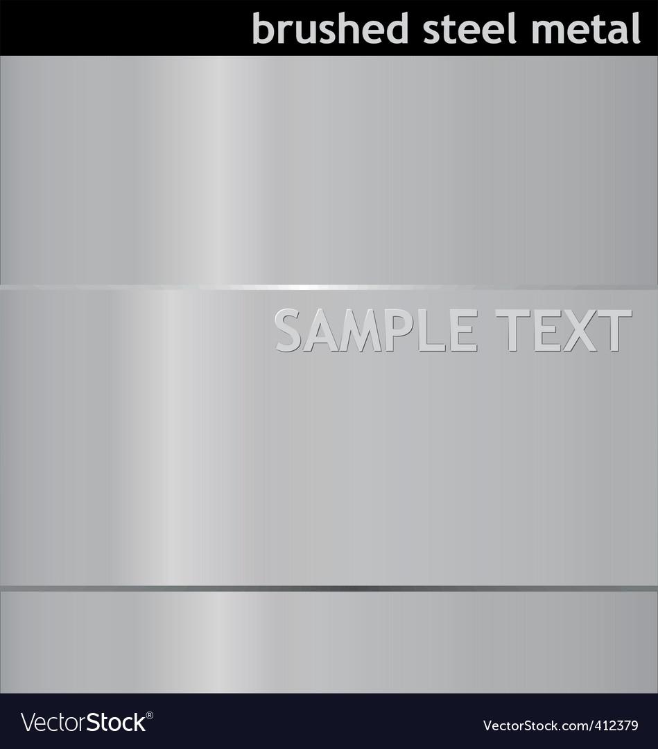 Brushed steel background vector