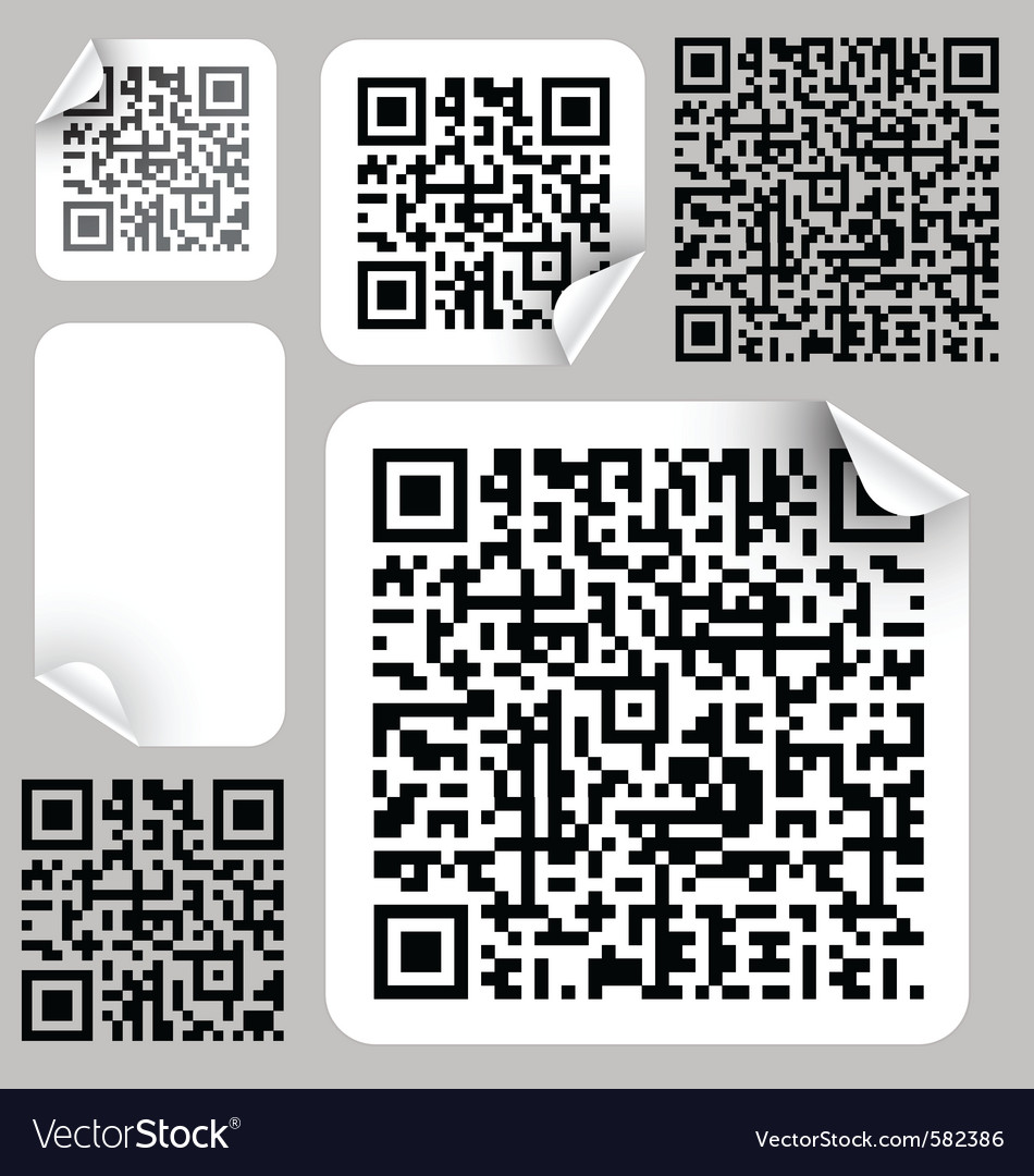 Qr or quick response code vector