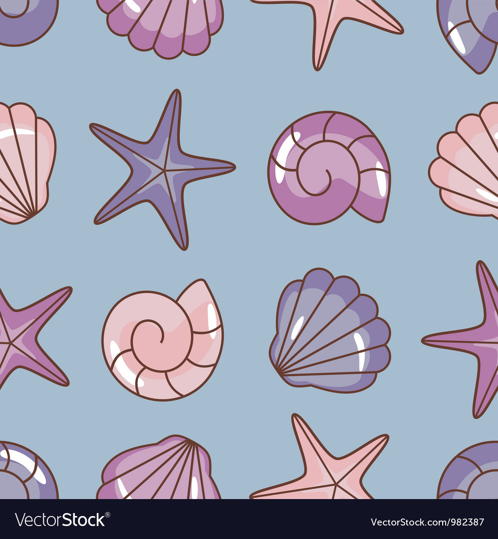 Various sea pattern vector
