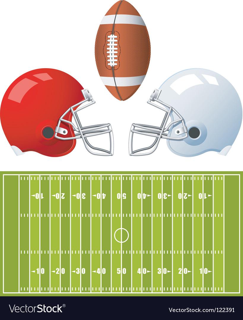 American football helmets vector