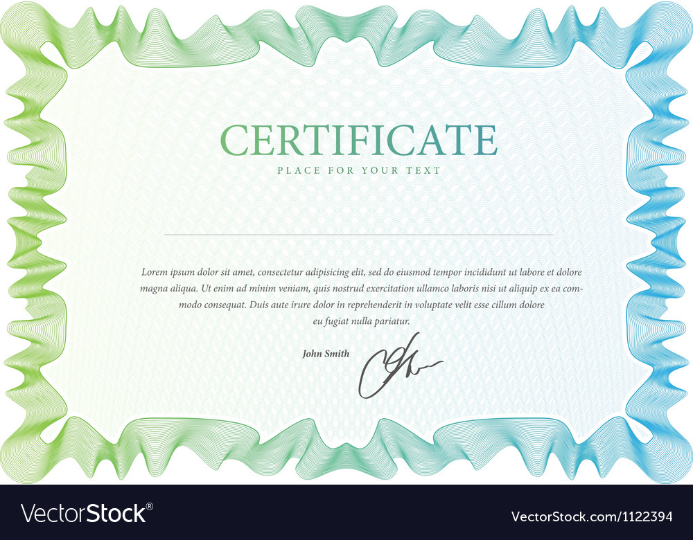 Pattern that is used in certificate vector
