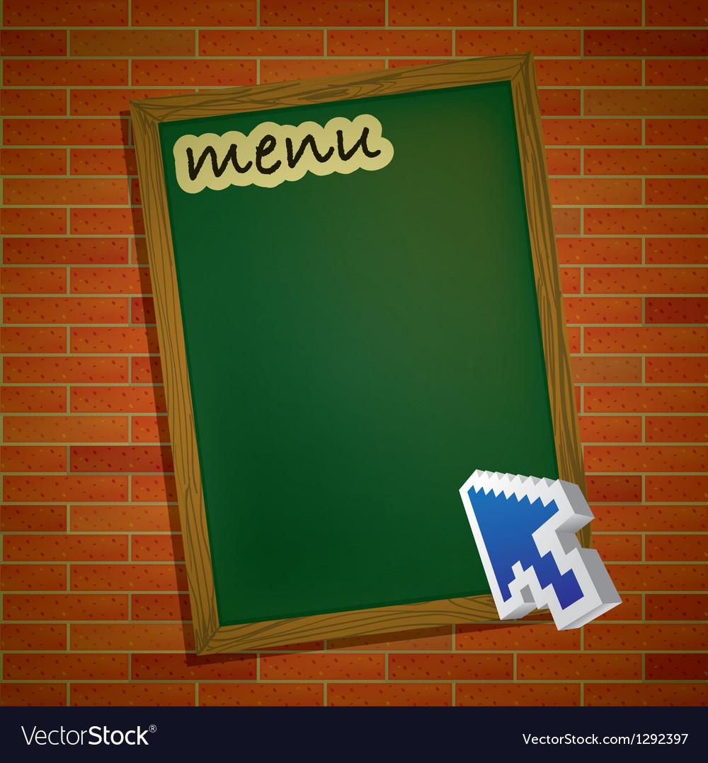 Brickwall chalkboard vector
