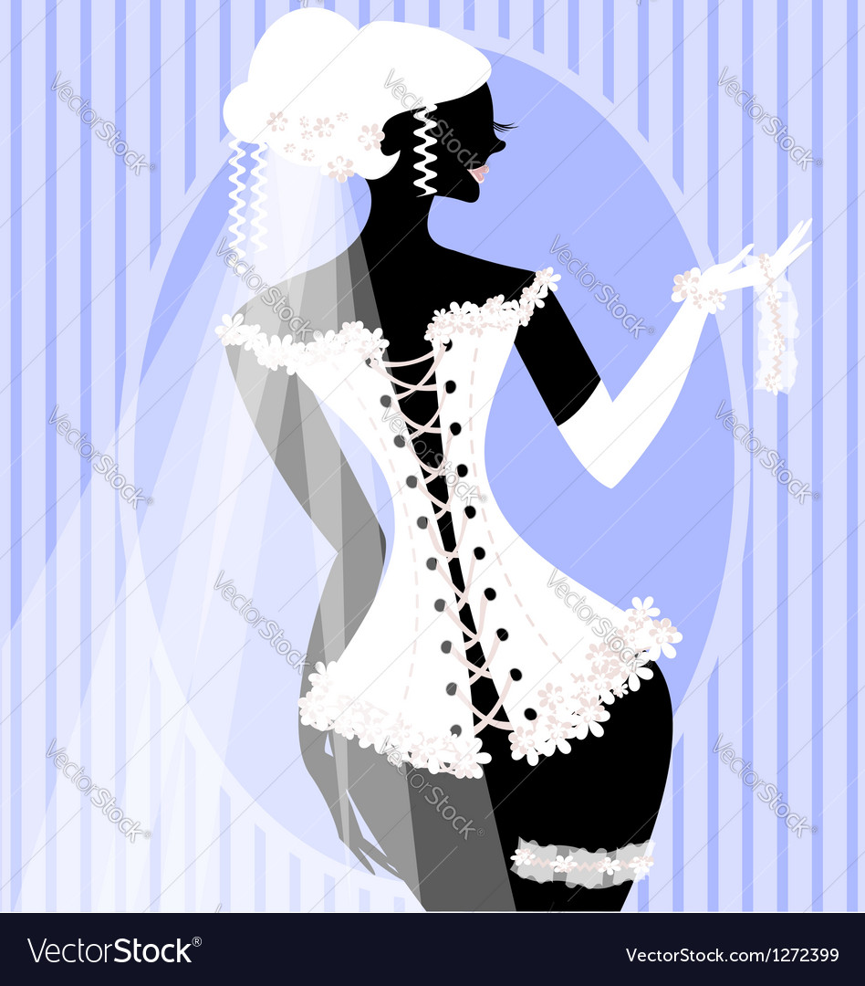 Bride in a corset vector