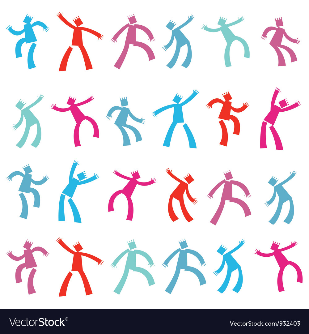 Dancing men vector