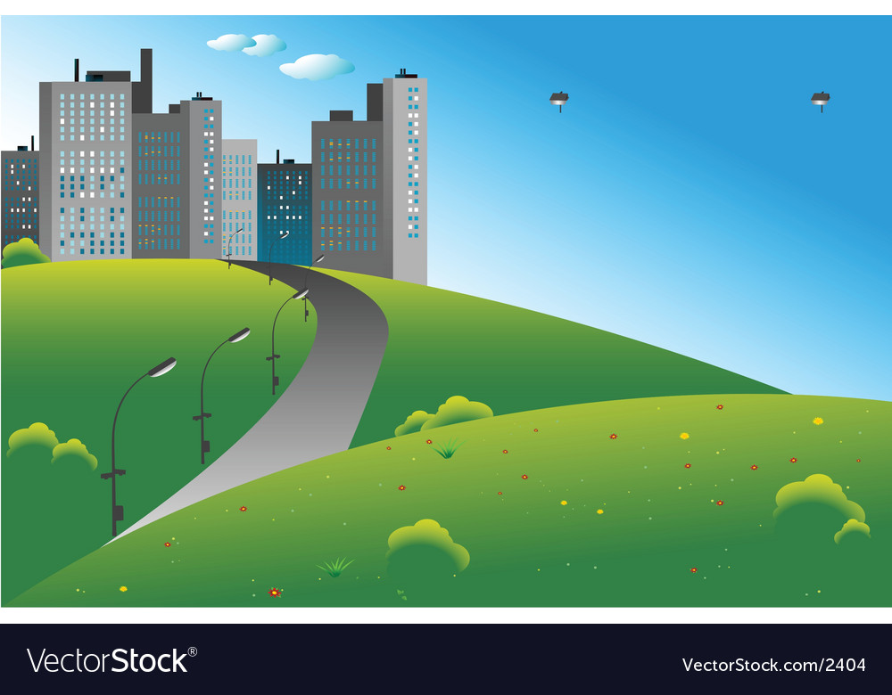 City billboard vector