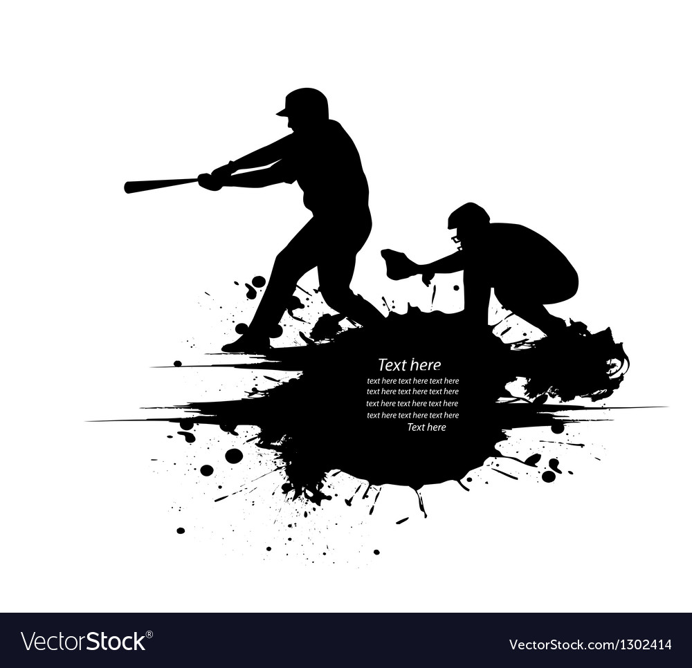 Baseball grunge background vector