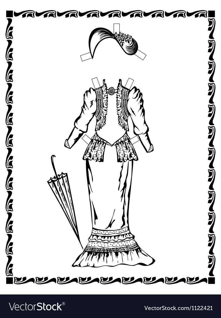 Vintage dress vector