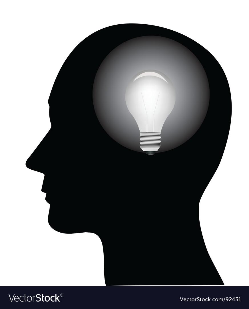 Concept of a bright idea vector