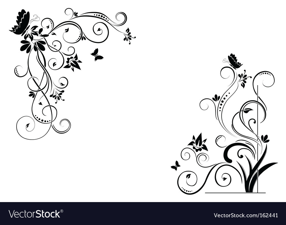 Floral borders vector