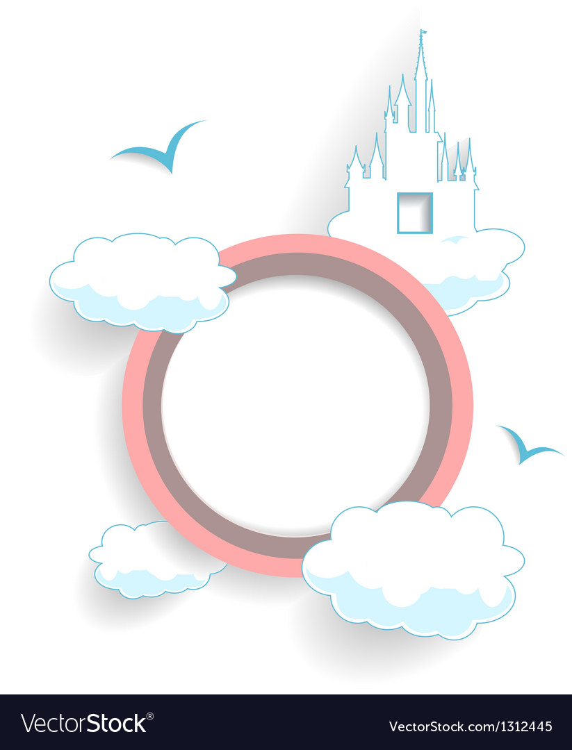 Abstract cloudy circle vector