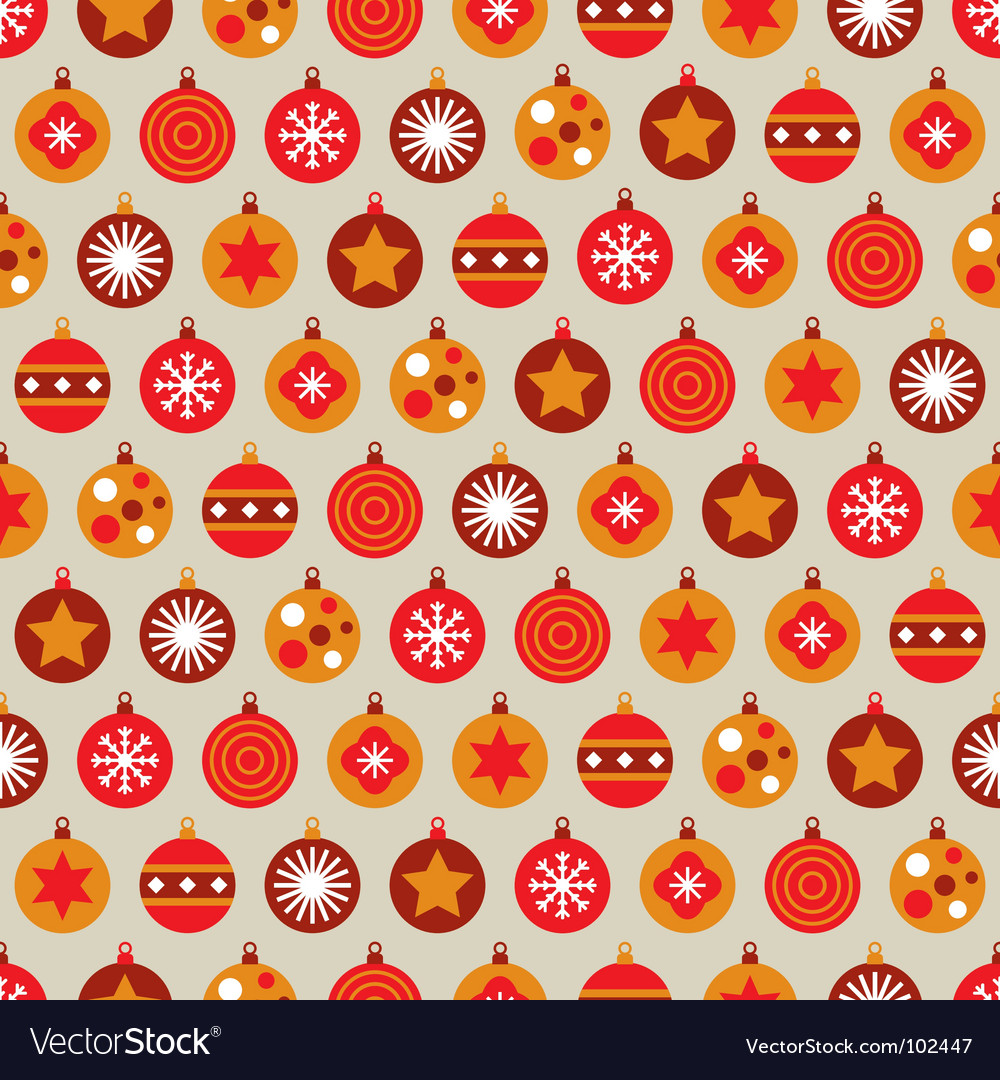 Christmas bauble background vector