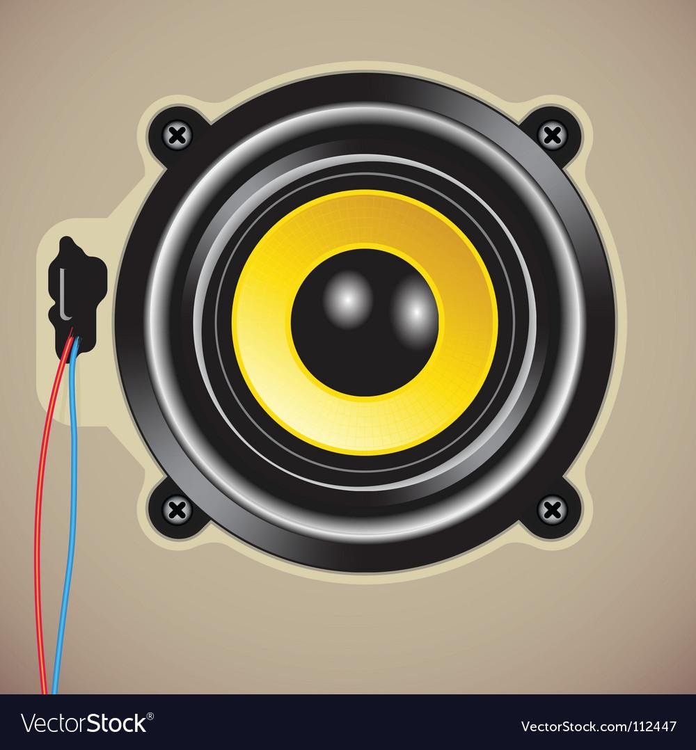 Loud speaker vector