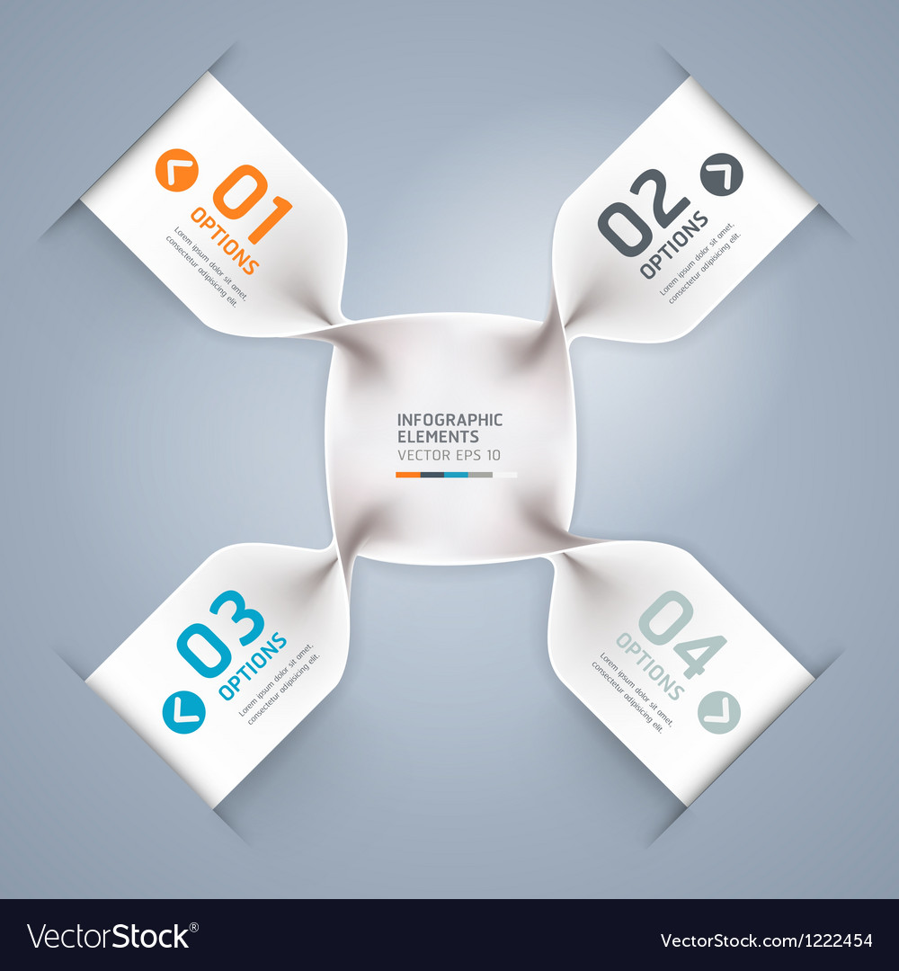 Abstract spiral infographics options banner vector