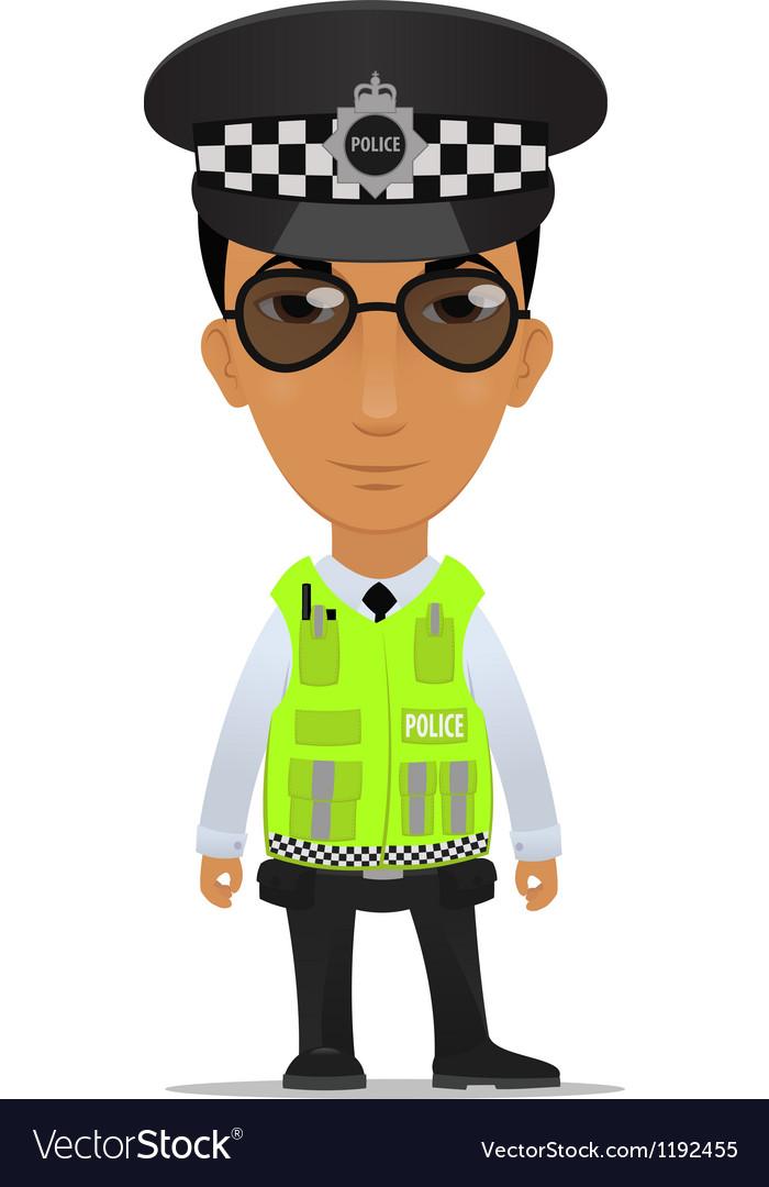Traffic police officer uk vector
