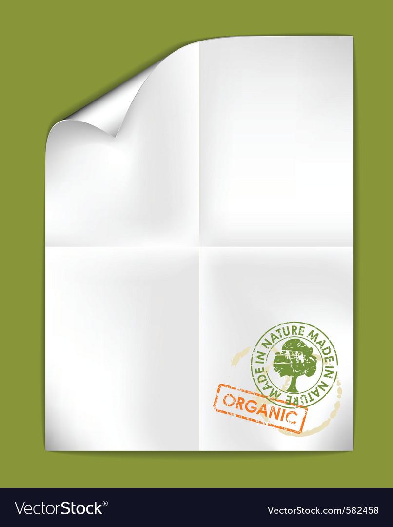 Paper organic vector