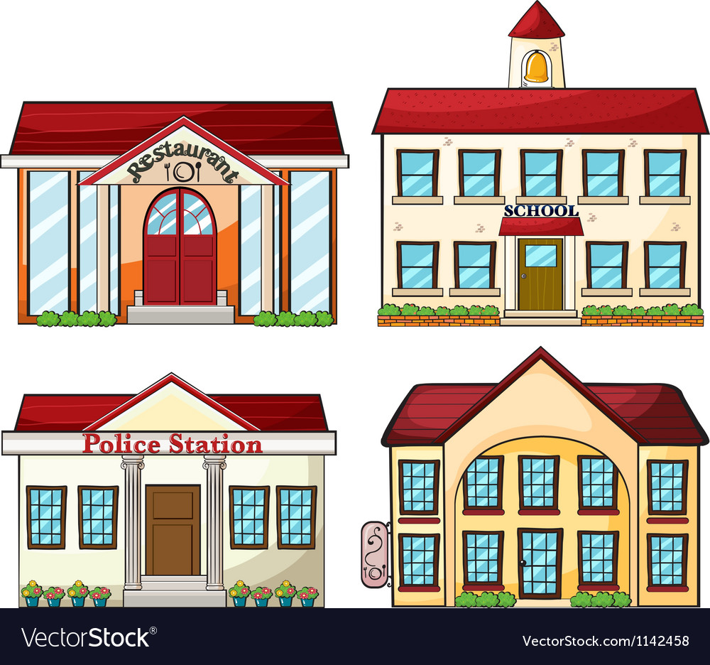 Useful buildings vector