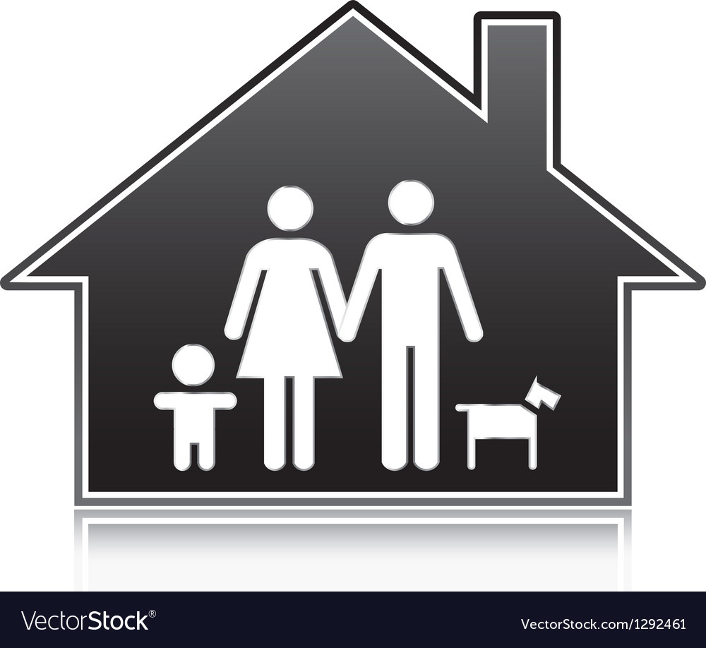 Family houses vector