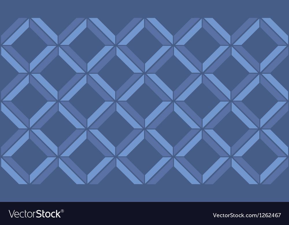 Blue chevron vintage seamless pattern vector