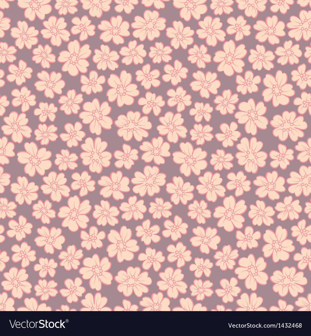 Cute flowers seamless vector