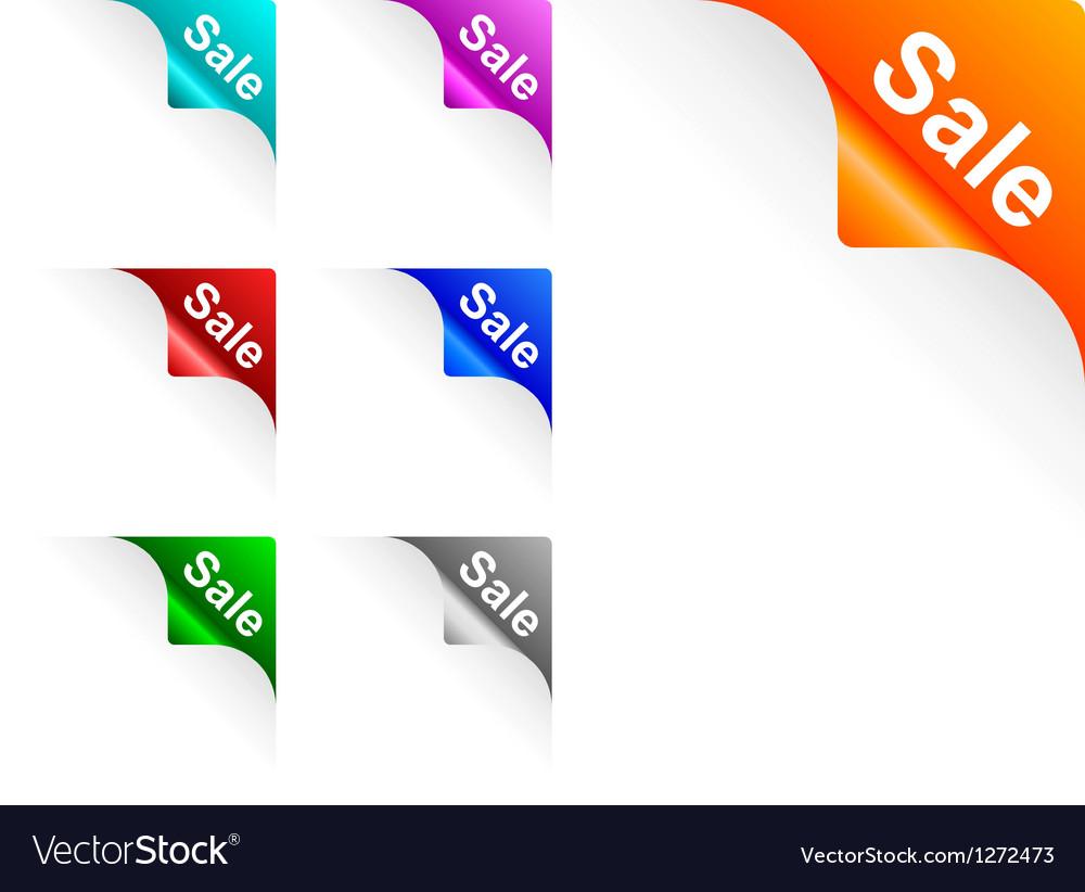 Sale paper corner vector