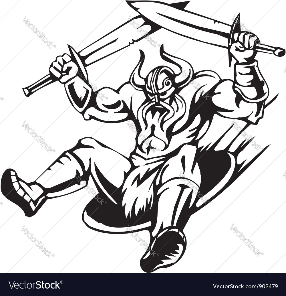Nordic viking -  vinyl-ready vector