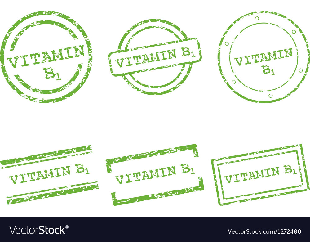 Vitamin b1 stamps vector