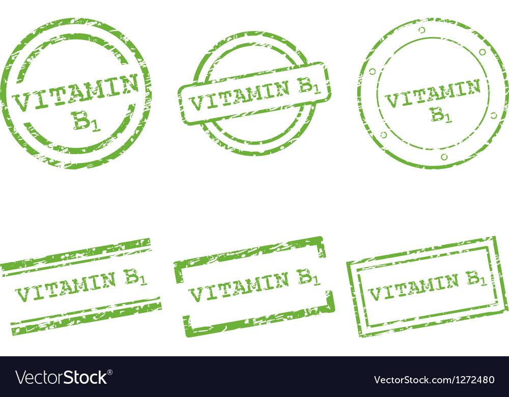 Vitamin b1 stamps vector