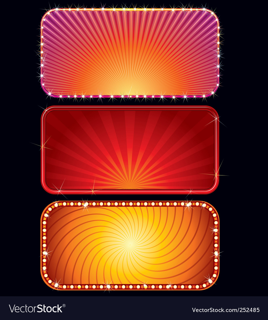 Glowing signs vector