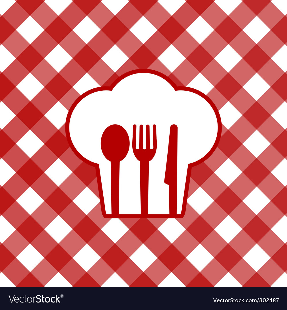 Checkered tablecloth vector